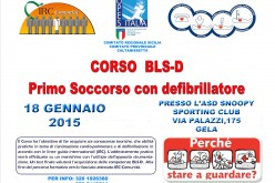 Gela, Corso BLS-D – Primo soccorso con defibrillatore