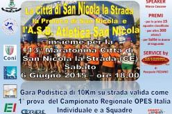 Al via la 13^ Maratonina della Città di San Nicola la Strada
