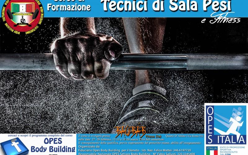 Corso di Formazione Tecnici di Sala Pesi e Fitness – VENEZIA