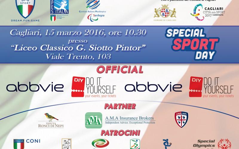 """""""Special Sport Day"""". Martedì tappa a Cagliari. Anche Tiziano Ferro, Kristian Ghedina e Anna Safroncik tra i fan del progetto nazionale"""