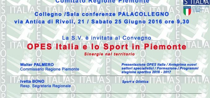 Conferenza presentazione O.P.E.S. Piemonte