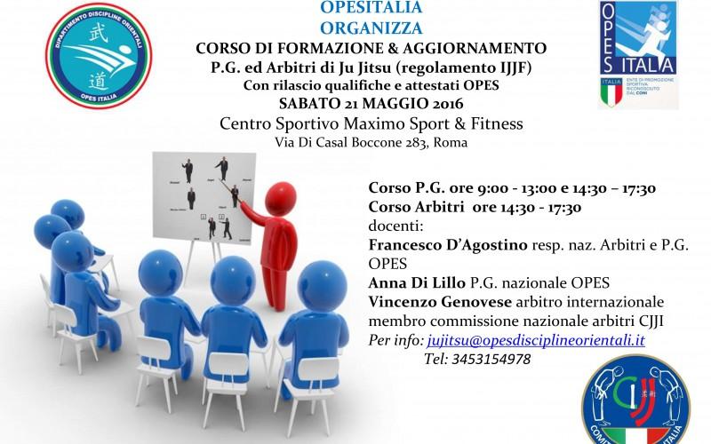 CORSO DI FORMAZIONE & AGGIORNAMENTO P.G. ed Arbitri di Ju Jitsu