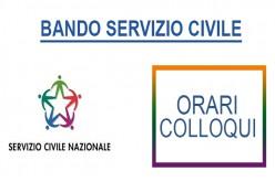 """Colloqui Servizio Civile: progetto """"Orientarsi e Orientare tra presente, passato e futuro"""""""