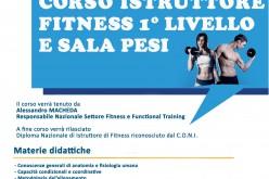 Corso Istruttore Fitness 1° livello e Sala Pesi