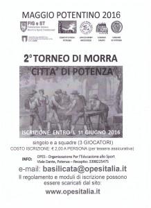 Locandina Torneo Morra 2016