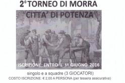 """Iscrizioni 2° Torneo Di Morra """"Città di Potenza"""""""