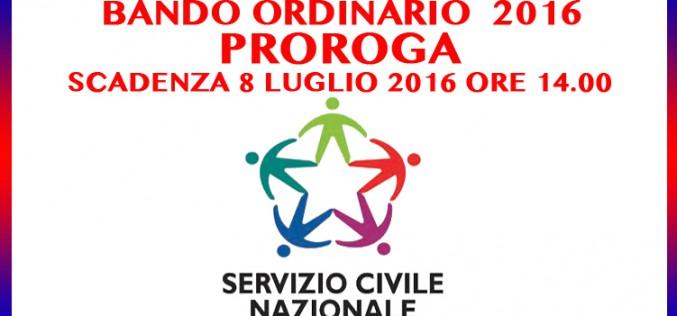 Bando Ordinario 2016 per la selezione di volontari di Servizio Civile Nazionale