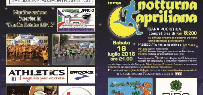 In Corsa Libera: arriva la 3° Notturna Apriliana