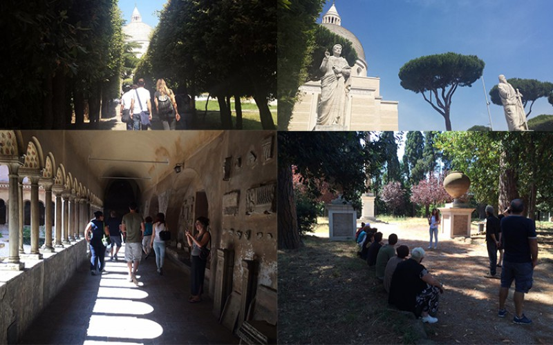 Volontari in visita tra Eur e Celio