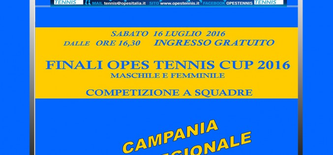 Finali OPES Tennis Cup 2016