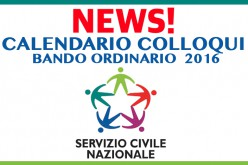 Calendario Colloqui –  Bando Ordinario 2016