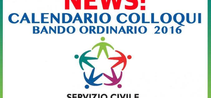 Calendario Colloqui –  Bando Ordinario 2016
