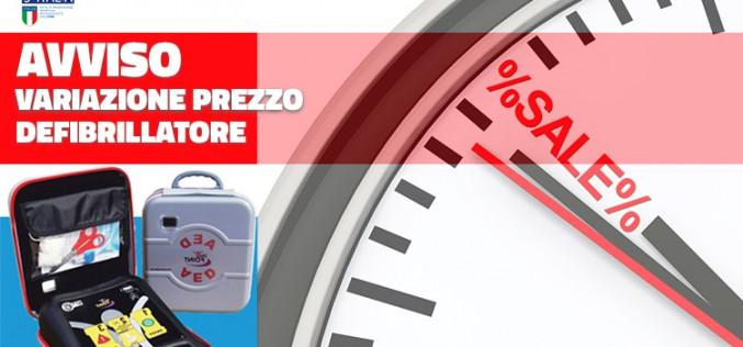 Variazione Prezzo Defibrillatore