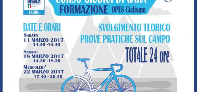 Ciclismo: Corso per Giudici di Gara