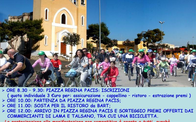 """Ciclopasseggiata """"Felici in Bici"""" a Lama (TA)"""
