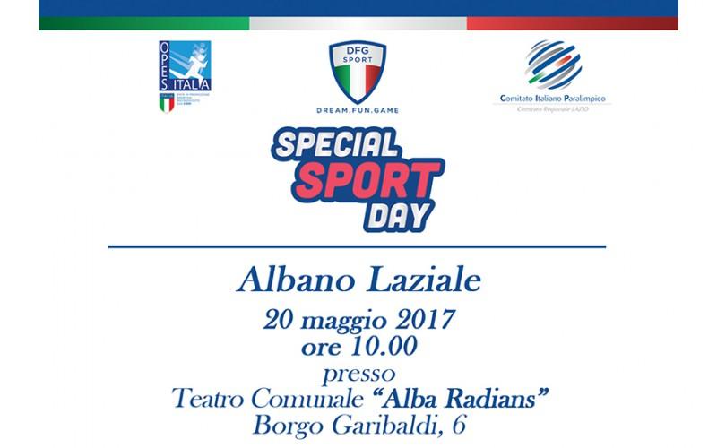 """Continua il tour nazionale """"Special Sport Day"""": 3° tappa ad Albano Laziale"""