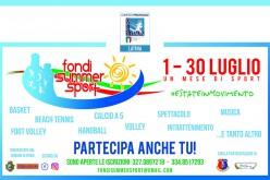Inizia domani Fondi Summer Sport