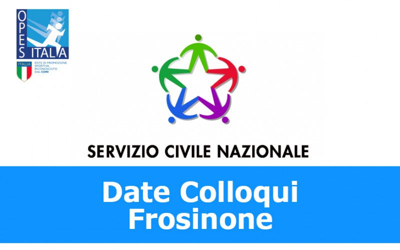 Servizio Civile: pubblicate date per i colloqui di Frosinone