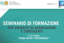 A Sport Experience il seminario per dirigenti di associazioni e consulenti