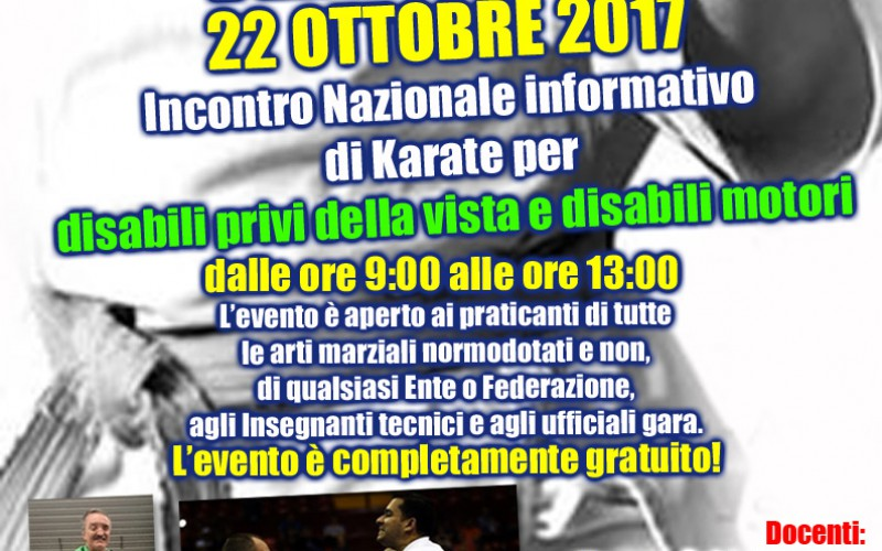 Incontro Karate Disabili Sensoriali e Motori