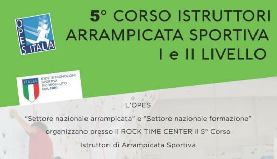 5° Corso Istruttori Arrampicata Sportiva I e II Livello