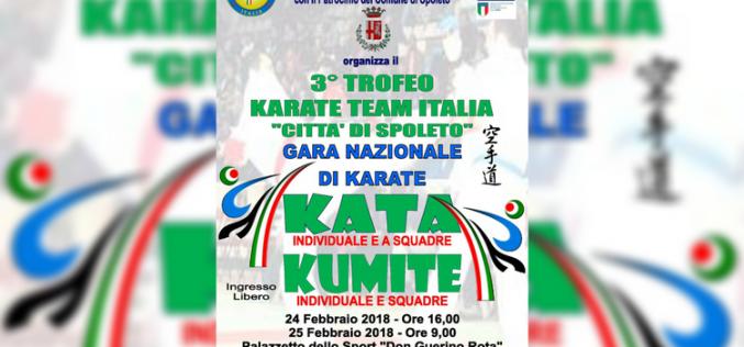 "3° Trofeo Karate Team Italia ""Città di Spoleto"""