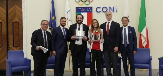 Simona Quadarella e Andrea Montemurro hanno ricevuto il Premio Città di Roma
