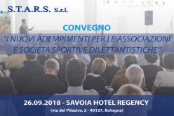 Nuovi adempimenti per le Associazioni e le Società sportive, un convegno a Bologna per fare chiarezza