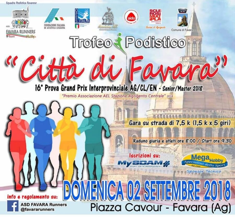 Trofeo Podistico città di favara 2 settembre 2018
