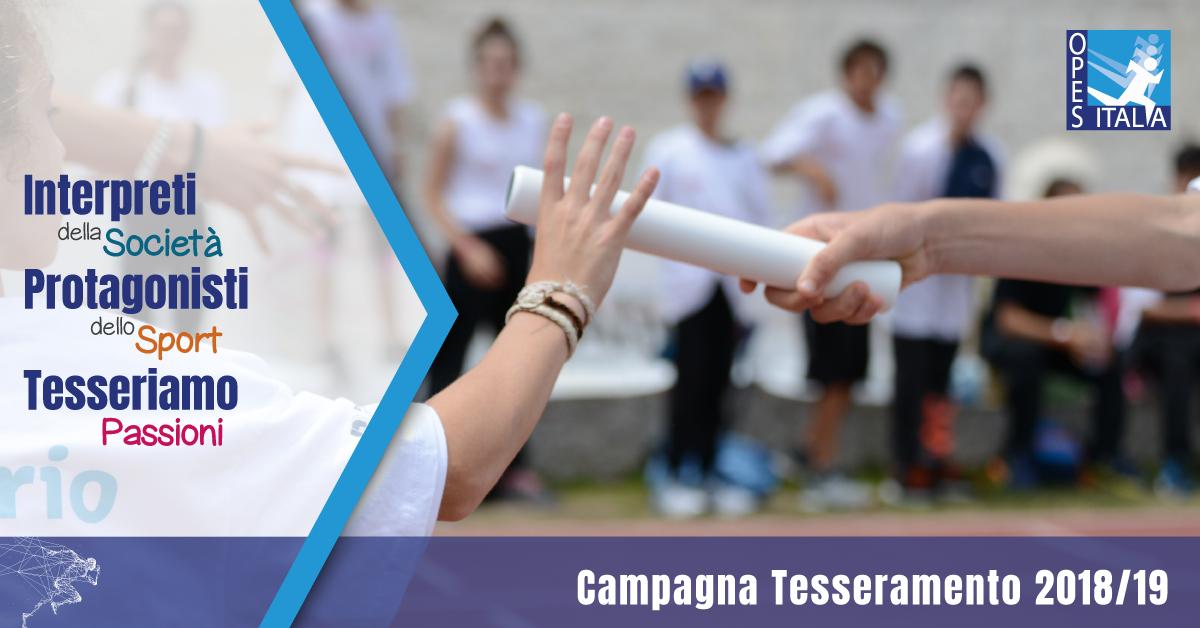 campagna tesseramenti OPES - Tesseriamo Passioni