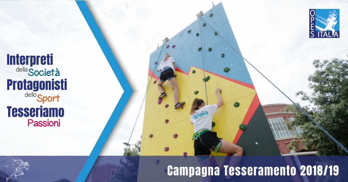 Campagna Tesseramenti OPES 2018/2019