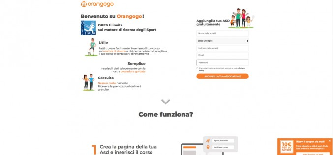 OPES e OrangoGo insieme per far crescere le Associazioni Sportive affiliate