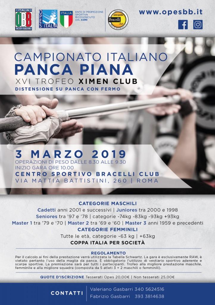 campionato italiano panca piana