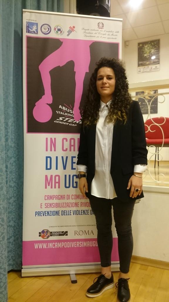 Arianna Pomposelli, giocatrice di futsal dell'Olimpus Roma e della Nazionale