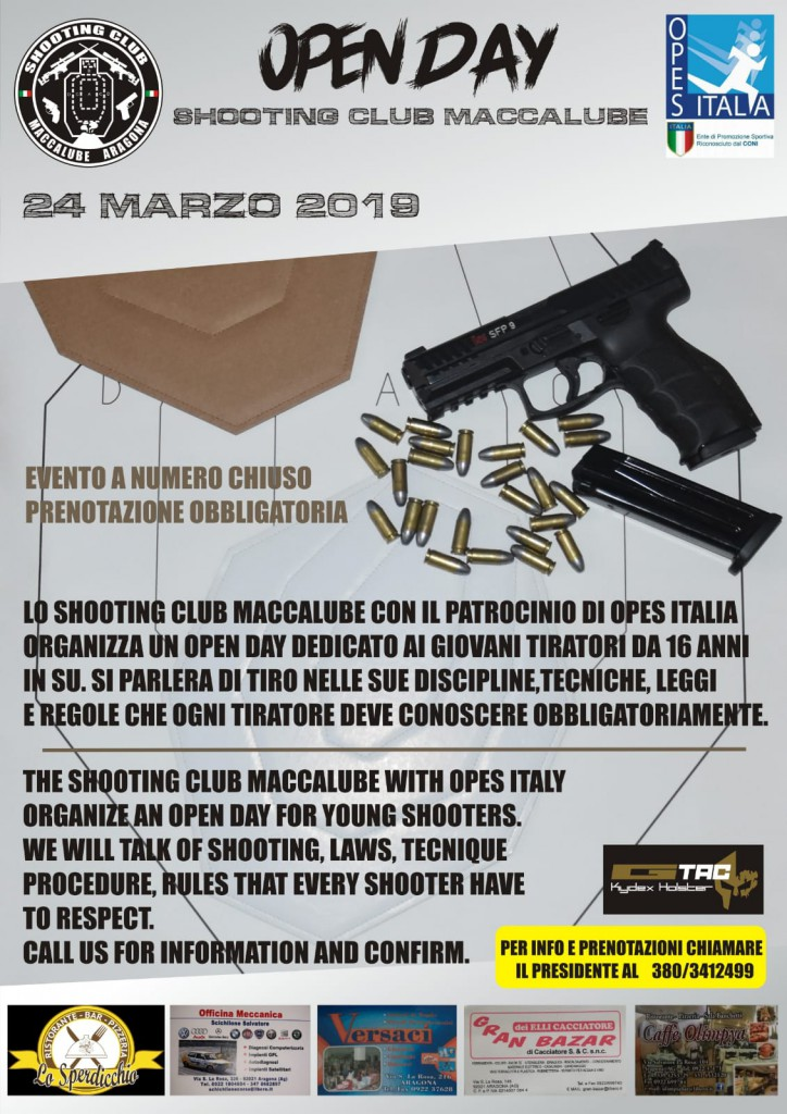 OPEN DAY SHOOTING CLUB MACCALUBE