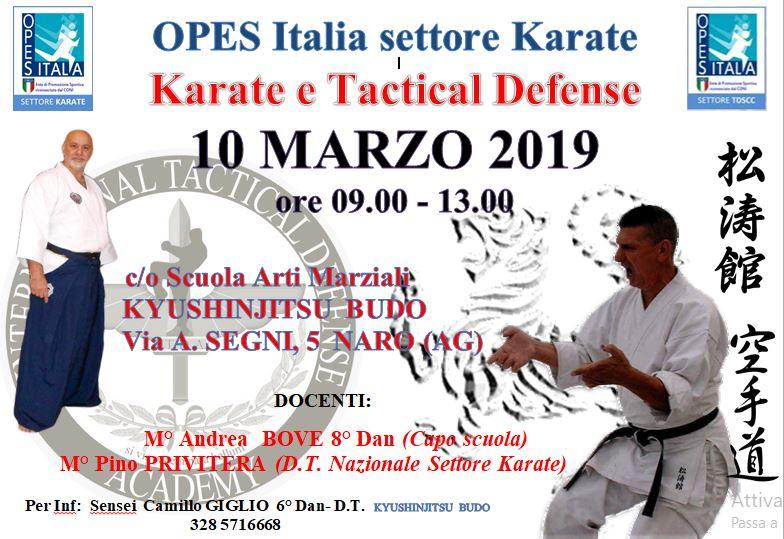 Seminario II Aggiornamento karate e tactical defense