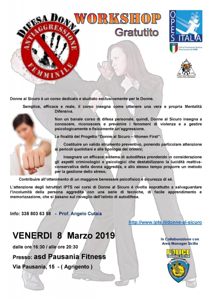 workshop difesa personale donne