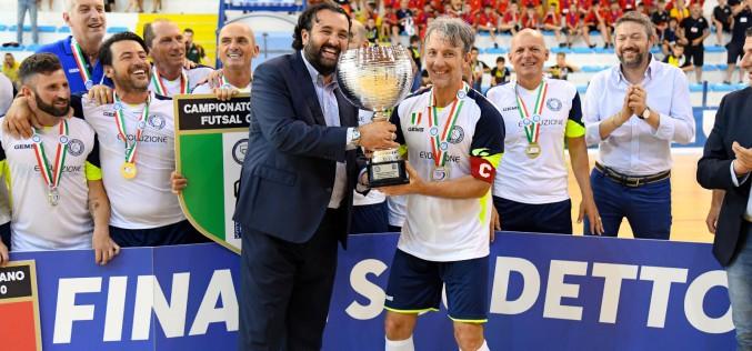 Campionato Italiano Futsal Over 40: l'Olimpus Roma batte il Real Dem ed è Campione d'Italia