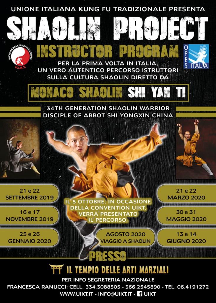 Al via il corso di formazione per istruttori Shaolin