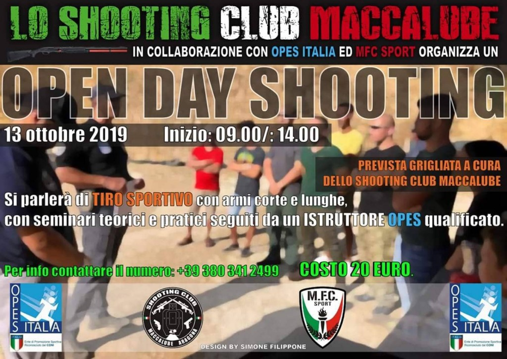 shooting club maccalube open day tiro sportivo