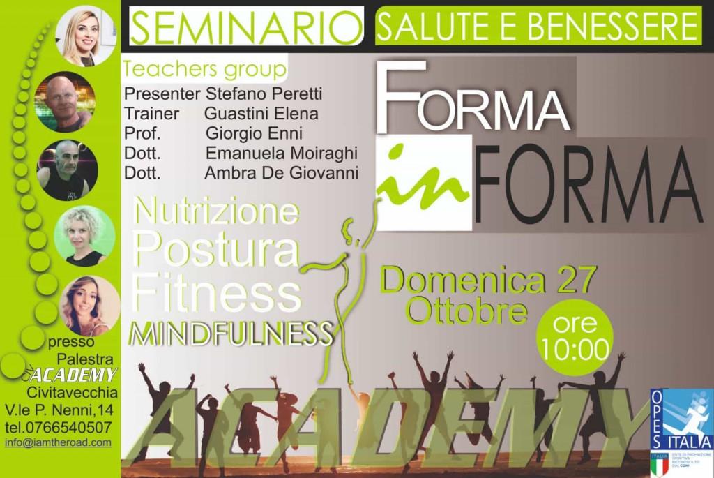 """all'Academy Fitness Civitavecchia il seminario """"Forma In Forma"""""""