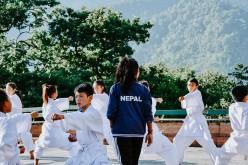 Esame di cinture di taekwondo nella Palestra Reasport di Canosa