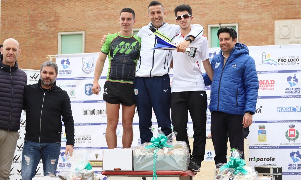 podio 13 km maschile