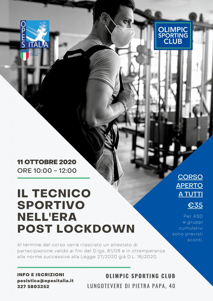 """corso """"Il tecnico sportivo nell'era post lockdown"""""""