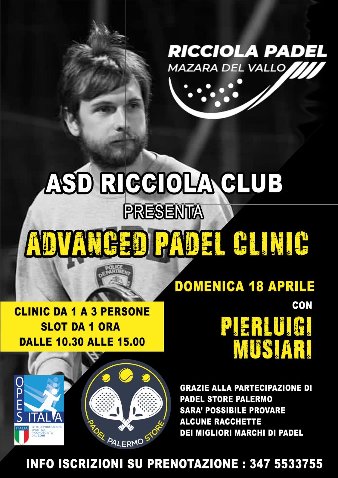 advanced padel clinic 18 aprile