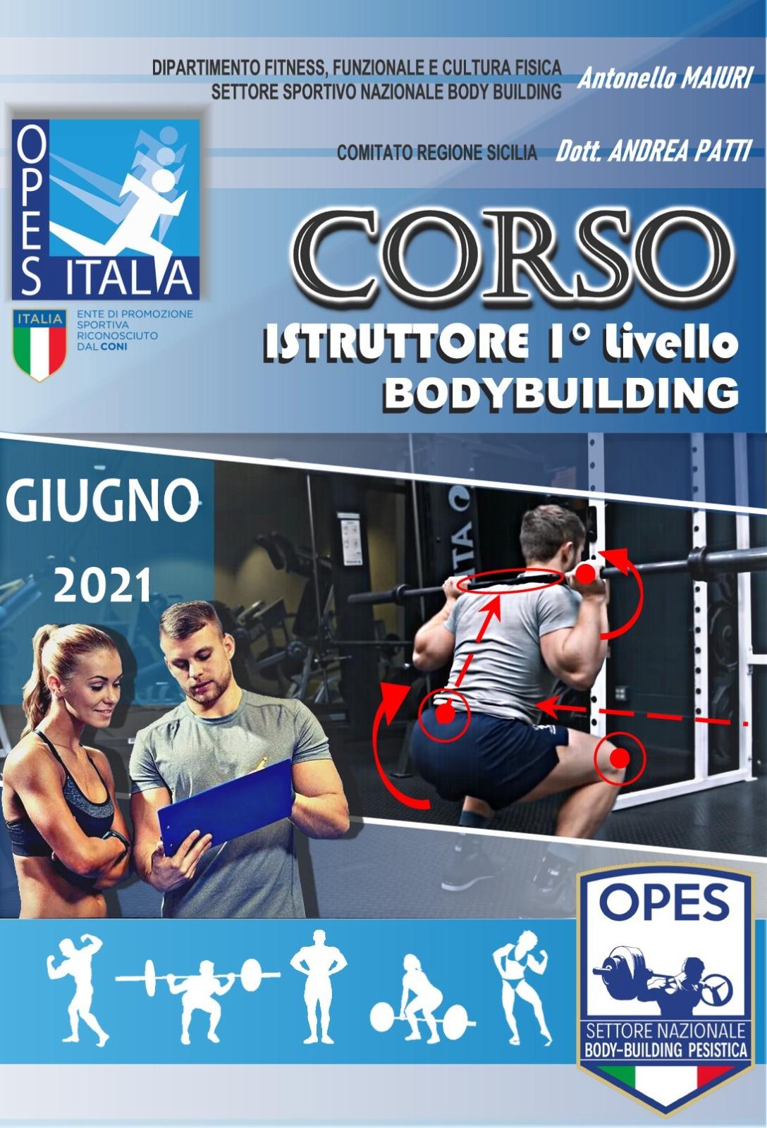corso istruttore 1° livello Body Building