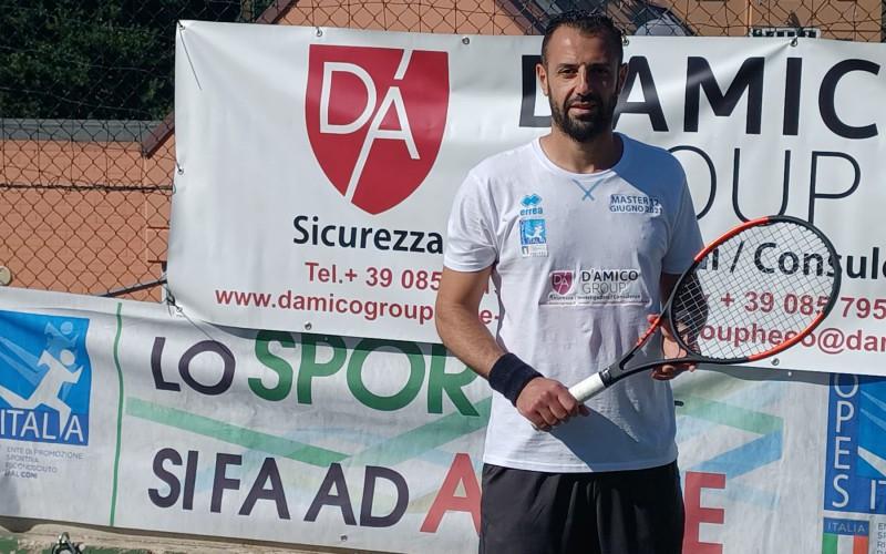 Antonio Sacco si è aggiudicato il Master di tennis di OPES