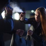 Pepper,Spray,Or,Tear,Gas,For,Self-defense,By,Woman