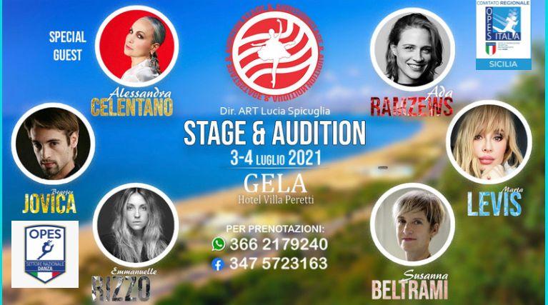 stage &amp_ audition 3-4 luglio 2021