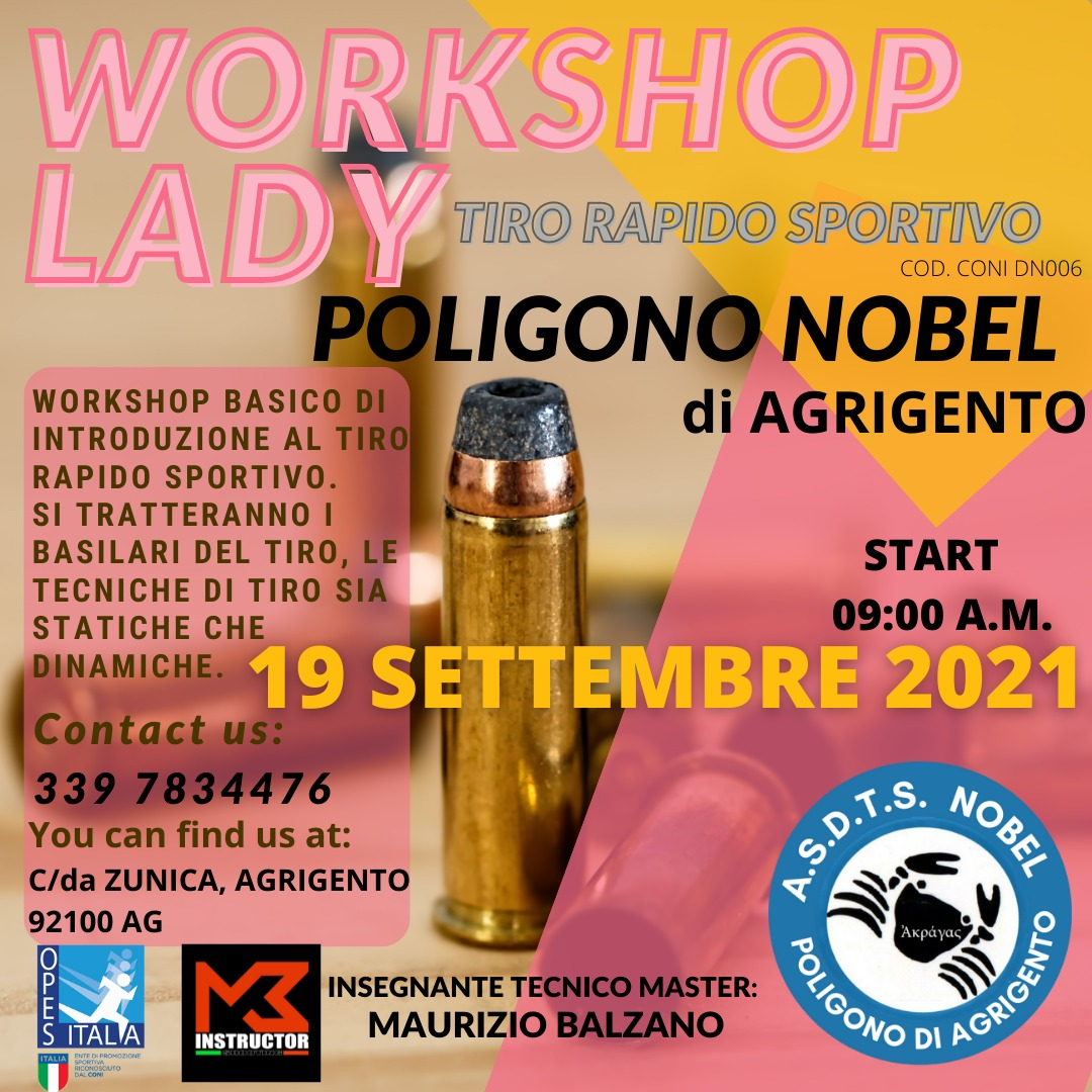 workshop lady tiro rapido sportivo 19 settembre 2021